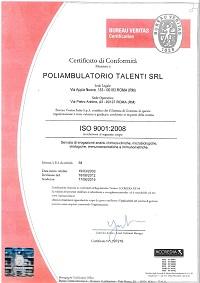 poliambulatorio-analisi-cliniche-talenti-certificato-conformita